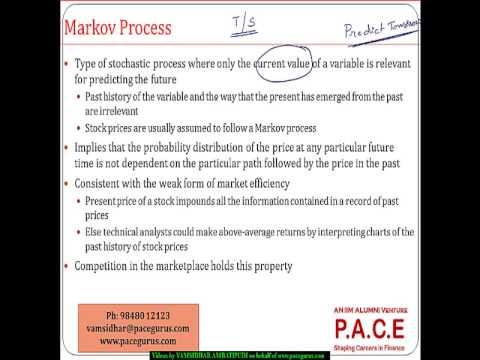 What is a stochastic process and a markov process