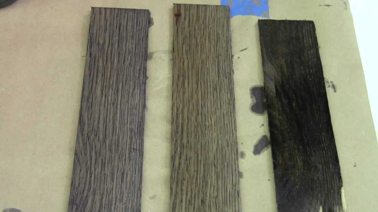 Rundown - Ebonizing Wood Follow Up - YouTube