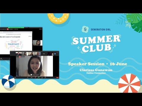 [Summer Club 2020] Workshop with Clarissa Gunawan: Emina Cosmetics