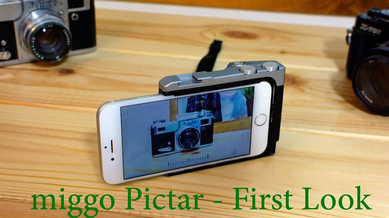 san francisco 3ec5e e2bbd LensVid Exclusive: miggo Pictar - iPhone Camera Grip First Look - Hands On
