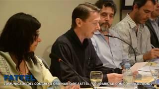 Comunicado Oficial de FATTEL - Solidaridad con Corina de Bonis