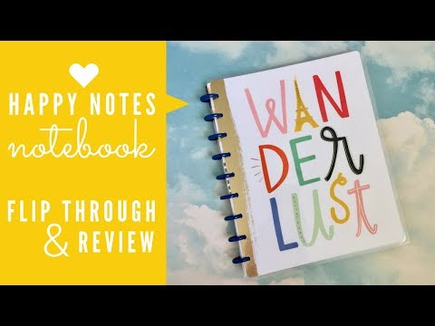 Wanderlust Happy Notes Notebook | Flip Through & Review
