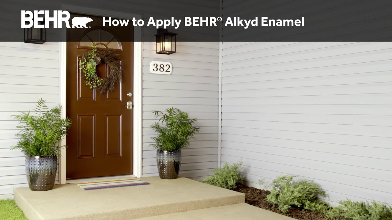How to Apply BEHR® Alkyd Enamel to Doors and Trim