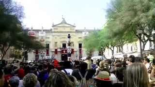 Pilar Caminant Xiquets Serrallo (Human Tower walking to City Hall Balcony)