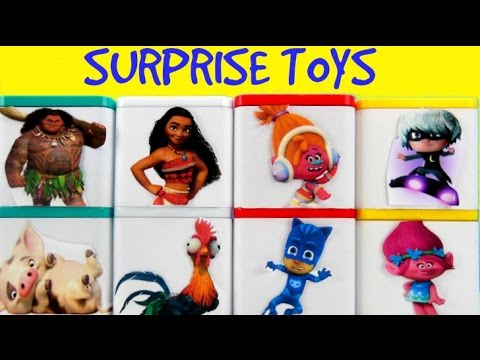 Huge Surprise Toy Blind Box Show: Pj Masks, Moana, Luna Girl, Maui, Peppa Pig and George