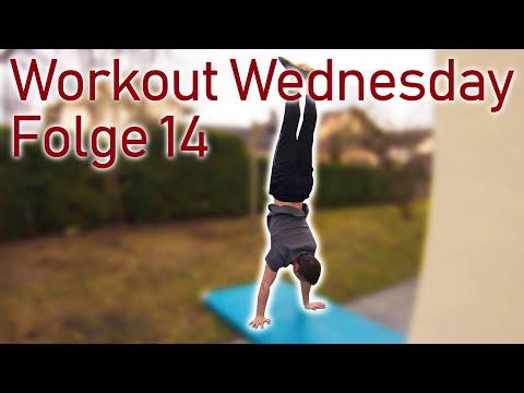 Workout Wednesday Folge 14 - Übungen für den Schweizer Handstand, Ringe und Kippe am Reck