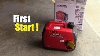 First start! Brand new Honda EU2000i Companion inverter generator!