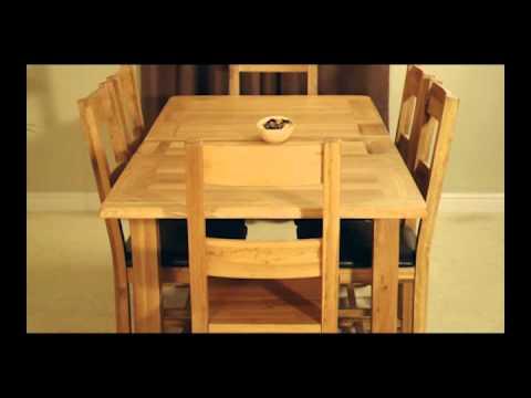 Westbury Reclaimed Oak Extending Dining Table