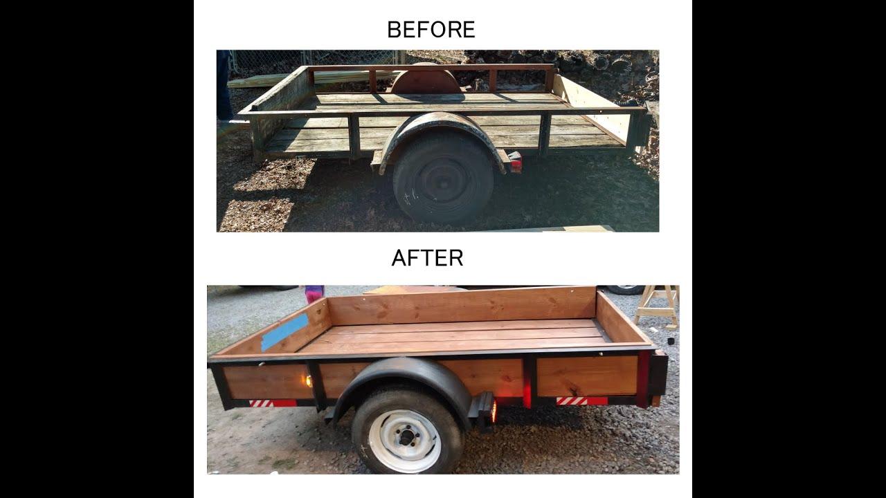 5x8 utility trailer rebuild youtube
