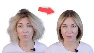 Пушистые волосы как убрать в домашних условиях Выпрямление волос дома Укладка волос дома