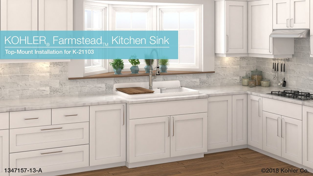 Top Mount Installation Farmstead Kitchen Sink