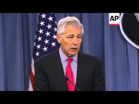 Defence Secretary Hagel welcomes counterpart Onodera to Pentagon