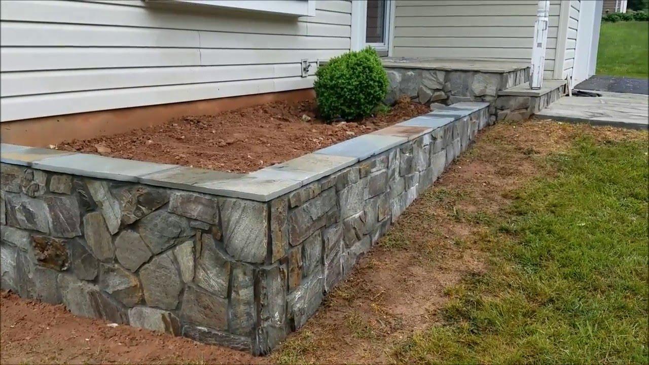 Stone Planter Wall Contractor In Herndon Va Youtube