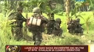 24 Oras: Pinangyarihan ng engkwentro ng militar at BIFM, isinailalim sa clearing operations