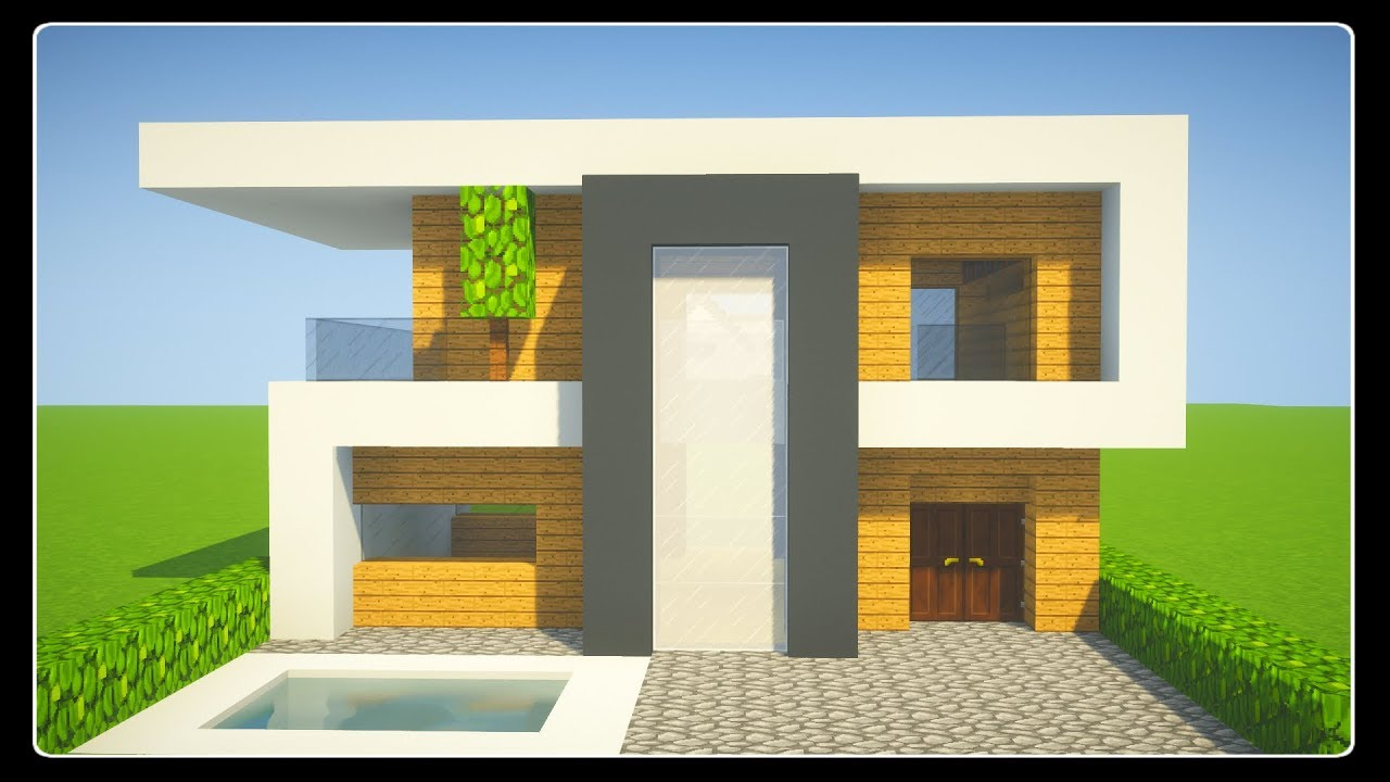 Image De Maison Moderne tuto petite maison moderne facile a faire | minecraft