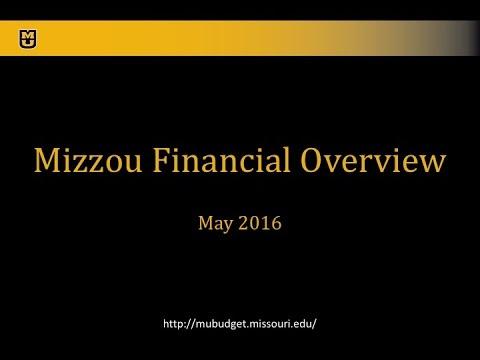 University of Missouri Budget Forum 5-13-16