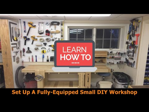 How to set up a fully equipped small woodworking workshop for under $1000 | DIY Small Workshop