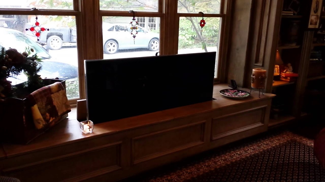 Tv Lift 65 Quot Samsung Led Inside Window Bench Seat Youtube