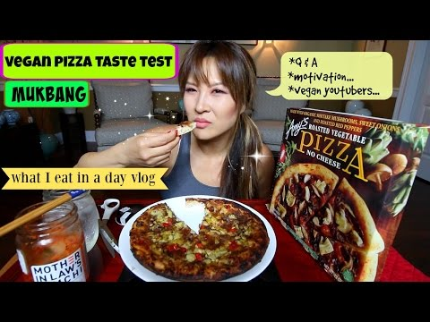 AMY'S NO CHEESE PIZZA what I eat in a day #2 MUKBANG
