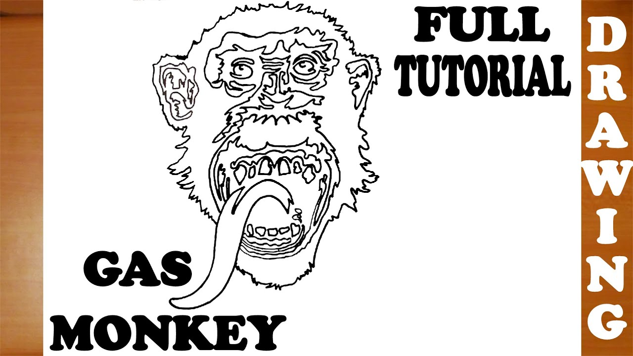 how to draw a chimpanzee monkey step by step easy for kids