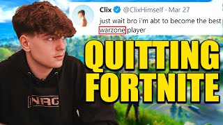 Is Clix QUITTING Fortnite..?