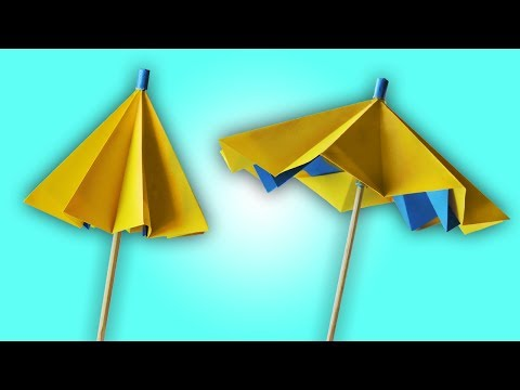 How to Make A Paper Umbrella That Opens And Closes   Easy Summer Craft For Kids