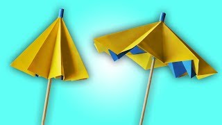 How to Make A Paper Umbrella That Opens And Closes | Easy Summer Craft For Kids