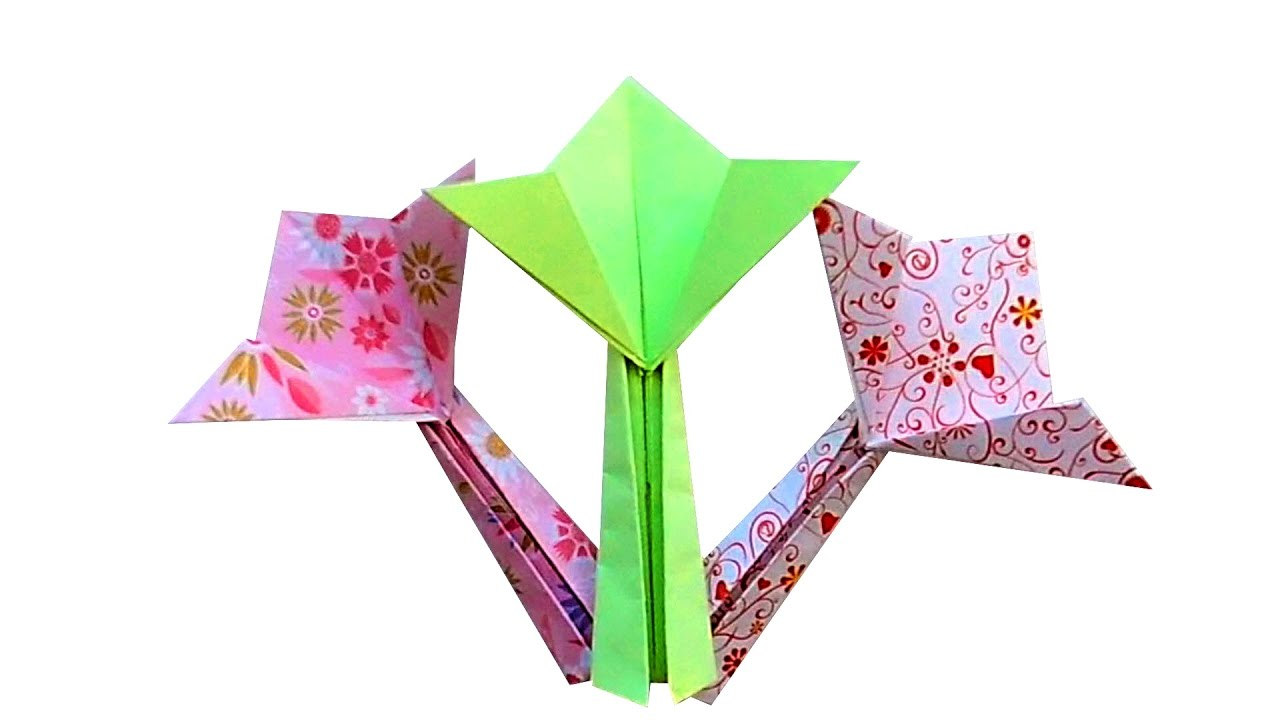 Origami Blume Für Anfänger How To Fold Origami Flower Easy Nadezhda Ivanova Origami Flower For Beginners