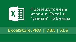 Урок 13: Подведение промежуточных итогов в Excel. Работа с