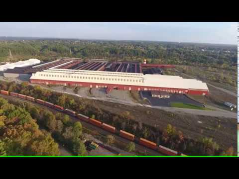 McDonald Steel and surronding property trains Drone Girard Youngstown Ohio