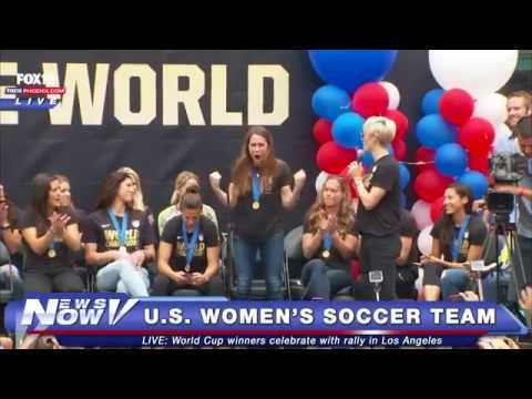 FNN: U.S. Women's Soccer Team Celebrates World Cup Win in LA