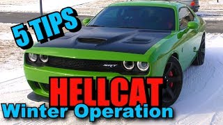 5 Tips for Dodge Challenger SRT Hellcat Winter Driving