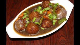 vegetable manchurian gravy recipe - veg manchurian recipe - indo chinese recipe