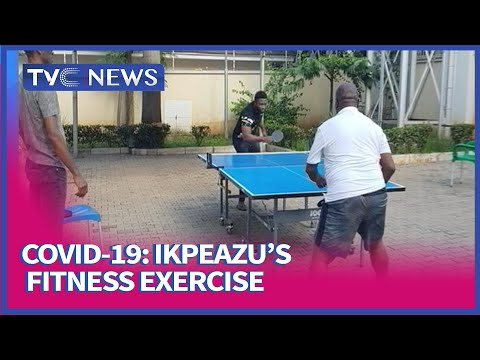 [Watch] Governor Ikpeazu Plays Table Tennis Weeks After Contracting COVID-19