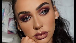 PURPLE METALLIC SMOKEY EYE | Carli Bybel