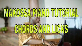 African Highlife Makossa Piano Turorial - Progressions , bassline and licks