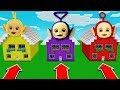 DO NOT CHOOSE THE WRONG HOUSE in Minecraft Pocket Edition  Laalaa  TinkyWinky   Po in Slendytubbies