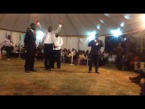 Prophet Dr.Mabaso from South Africa spoke prophetic words to Pr.Johnson Enamu.