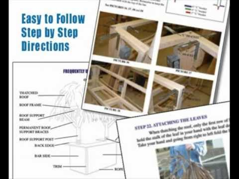 Build Your Own Shed >> Build Your Own Tiki Bar-Tiki Bar Plans - YouTube