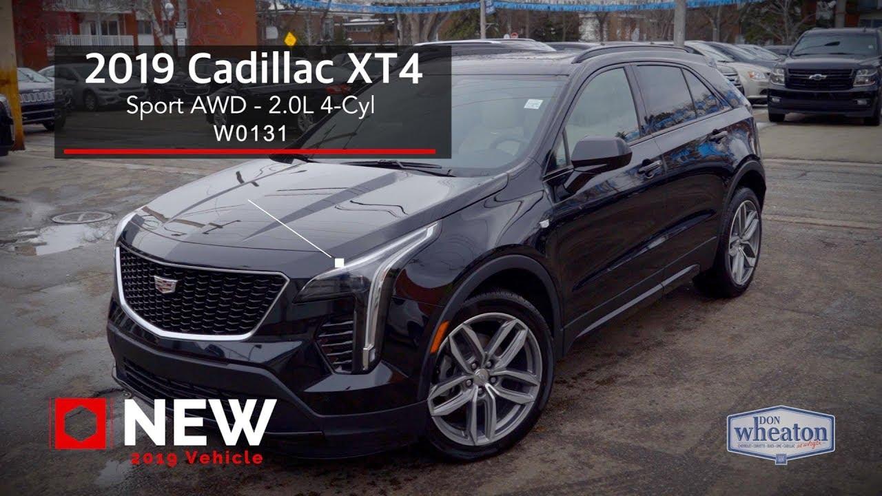2019 Cadillac XT4 SPORT AWD BLACK W0131 Walkaround