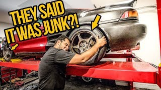 My $1000 Toyota MR2 Turbo Gets Junkyard JDM Wheels And Big Brakes! - MR2 Build Pt 7