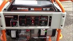 Generac XG8000E, XG8000 Portable Generator Review 8000 watts