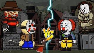 PENNYWISE vs FREDDY KRUEGER and JASON VOORHEES | Scribblenauts Unlimited Gameplay PART 2