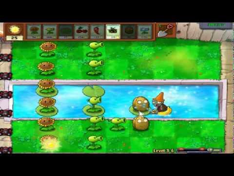 Plants vs zombies (Trồng cây bắn zombie) - Cấp độ 3-6 (Game Việt Hóa)