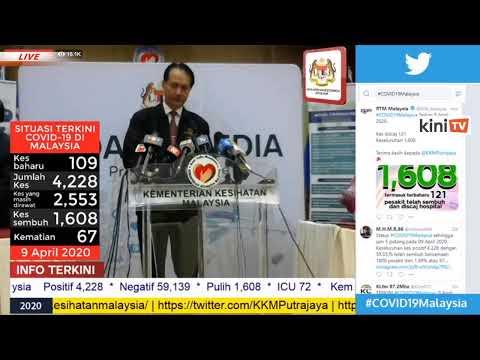 LIVE: Sidang media oleh Ketua Pengarah Kesihatan Dr. Noor Hisham