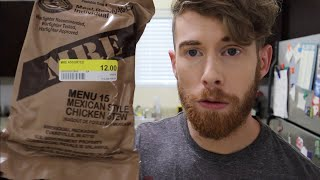 TRYING A MRE!