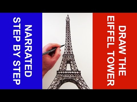 How to Draw The Eiffel Tower: Narrated Step by Step