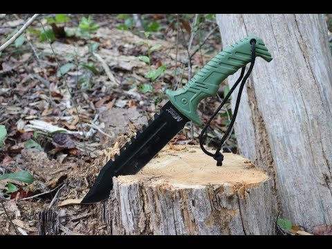 """13""""-tactical-survival-rambo-hunting-fixed-blade-knife-army-bowie-w/-sheath"""