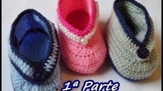Diy – Como Fazer -Sapatinho em Crochê – Bebê – Fácil – 1ª PARTE – Graça Tristão