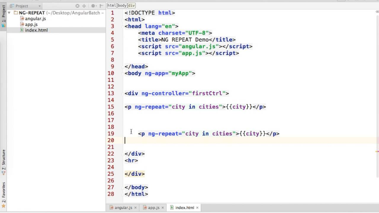 Angularjs Ng Repeat On Array Of Objects Youtube
